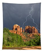 Storm Over Cathedral Rock Tapestry