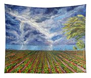 Storm Over Homestead Tapestry