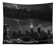 Storm Over Nyc  Tapestry