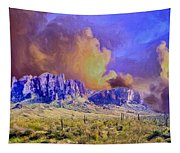 Storm Over The Superstitions Tapestry