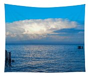 Storm Over Whitefish Bay Tapestry