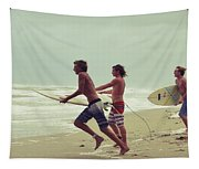 Storm Surfers Tapestry