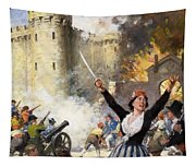 Storming The Bastille Tapestry