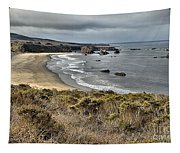 Storms Over An Unspoiled Beach Tapestry