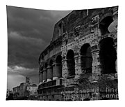 Stormy Colosseum Tapestry
