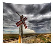 Stormy Crossing Tapestry