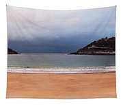 Stormy Day On The Beach Tapestry