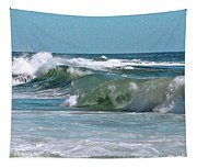 Stormy Lagune - Blue Seascape Tapestry