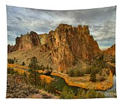 Stormy Over Smith Rock Tapestry