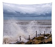 Stormy Seafront  Tapestry