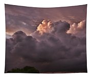 Stormy Sunset Tapestry