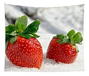 Strawberries On Ice  Tapestry