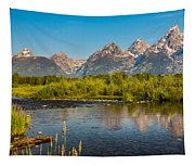 Stream At The Tetons Tapestry