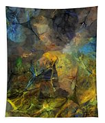 Stream Bed On A Sunny Day Tapestry
