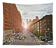 Street As Seen From The High Line Park Tapestry
