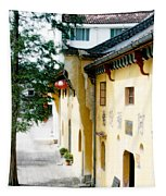 Street In Anhui Province China Tapestry