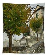 street in old Albaycin in Granada Tapestry