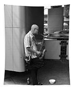 Street Musician Tapestry
