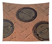 Street Water Covers Tapestry