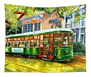 Streetcar On St.charles Avenue Tapestry
