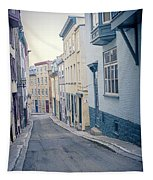 Streets Of Old Quebec City Tapestry