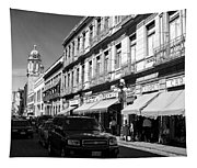 Streets Of Puebla 9 Tapestry