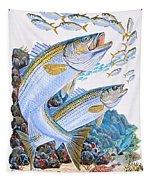 Striped Bass Rocks Tapestry