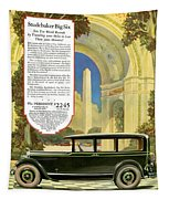 Studebaker Big Six - Vintage Car Poster Tapestry