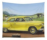 Studebaker Champion Antique Americana Nostagic Rustic Rural Farm Country Auto Car Painting Tapestry