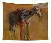 Study For Cowboys In The Badlands Tapestry