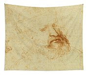 Study Of A Male Head Tapestry