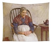 Study Of An Elderly Lady Tapestry