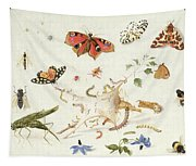 Study Of Insects And Flowers Tapestry