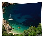 Stunning Beach Kefalonia Tapestry
