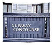 Subway Concourse At City Hall Tapestry