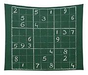 Sudoku On A Chalkboard Tapestry