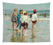 Summer Day Brighton Beach Tapestry