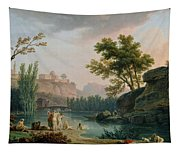 Summer Evening Landscape In Italy Tapestry