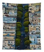 Summer Green On Lombard Street Tapestry
