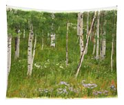 Summer In The Colorado Mountains Tapestry