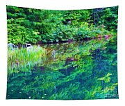 Summer Monet Reflections Tapestry