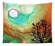 Summer Moon - Landscape Art By Sharon Cummings Tapestry