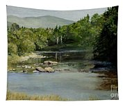 Summer On The River In Vermont Tapestry