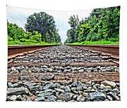 Summer Railroad Tracks Tapestry