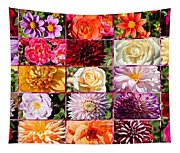 Summer Roses And Dahlias 2013 Tapestry