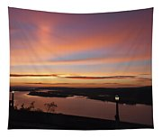 Summer Skies At Crown Point Tapestry