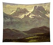 Summer Snow On The Peaks Or Snow Capped Mountains Tapestry