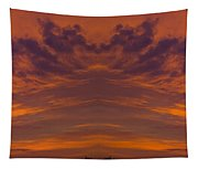 Summer Sunrise Over Jackson Michigan Mirror Image Tapestry
