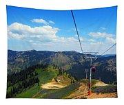 Summertime Chairlift Ride Tapestry