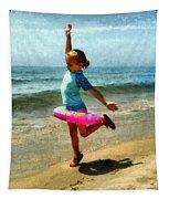 Summertime Girl Tapestry